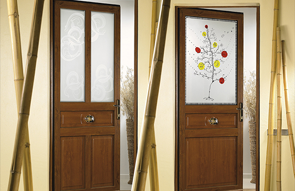 Porte d 39 entr e bois - Portes d entree vitrees ...