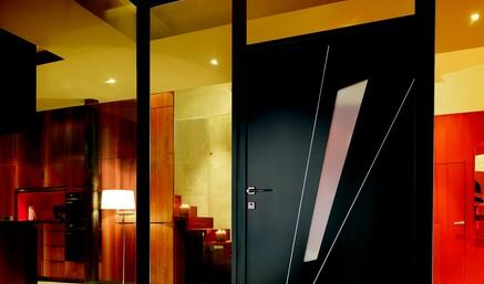 porte d 39 entr e alu. Black Bedroom Furniture Sets. Home Design Ideas